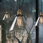 MODERN VINTAGE INDUSTRIAL METAL LOFT GLASS CONE CEILING LAMP SHADE PENDANT LIGHT