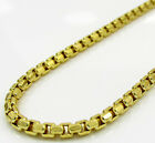 "20-26"" 2.3mm 10k Yellow Gold Fancy Skinny Hexagon Box Chain Necklace Ladies Mens"