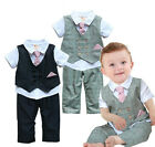 Boy Kids Suit (Baby Toddlers 6M -4T) Pageant Christening Formal Dressy Set NEW