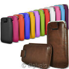 COLOUR (PU) LEATHER PULL TAB POUCH CASES FOR ALCATEL POP C1 MOBILE PHONES