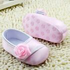 Baby girl soft soled Crib Shoes pink Size 0-6 6-12 12-18 months