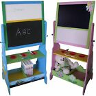 CHILDRENS BLACKBOARD WHITEBOARD WOODEN EASEL Fairy Princess Cars Themed Bedroom