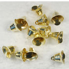 10 50 100 pc Gold Antique Strong Mini Christmas Bell Charm Alloy Pendant 16mm AB