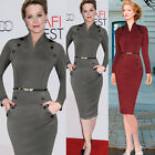 Women Celebrity Vintage Pinup Work Party Evening Tunic Pencil Bodycon Midi Dress