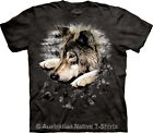 Wolf in Dye Paw Adults Unisex T-Shirt by The Mountain T-Shirts - Sz 12 to 28!