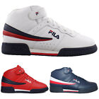 Mens Fila F13 F 13 Classic Mid High Top Basketball Shoes NAVY RED 1VF059LX