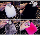 Luxury Top Soft Rabbit Fur Hair Diamond Case Cover for iPhone Samsung Moblie TMK