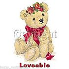 Loveable Teddy Bear Shirt, Valentines Day & Roses with Bow, Small - 5X