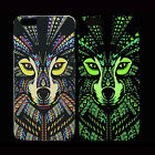 Cool Tiger OWl Wolf Bear Night Luminous Light Cover Case F Iphone 5S 6/Plus 5.5