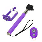 Selfie Handheld Monopod Stick + Holder + Bluetooth Shutter Remote for Cellphone