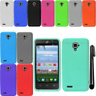 For ZTE Rapido LTE Z932L Ultra Thin SILICONE Rubber Soft Case Phone Cover + Pen