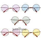 Retro Style Hippie Round Sunglasses Glasses Mirror/Clear Lens Hippy Metal Frame
