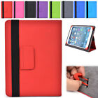 "Universal 10|I Adjustable Folding Folio Cover & Screen Guard fits 10.1"" Tablet-s"