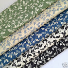 per 1/2 Mtr / fat quarter TRAILING LEAF  100% cotton fabric dressmaking craft
