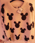Ladies Official Disney Mickey Mouse Eyelash Jumper Sweatshirt Primark