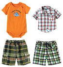NWT Gymboree Size 18-24 m Shorts Fish Bodysuit Top Button Shirt Plaid