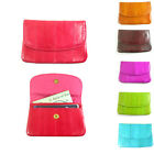Genuine Eel Skin Leather Coin Change Credit Card Case Zipper Small Wallet Purse