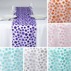 """24 pcs 14x108"""" Sheer Organza TABLE RUNNERS with Velvet Dots Banquet Wedding SALE"""