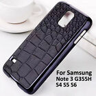 Crocodile PU Leather skin case cover For Samsung Galaxy S4 G355h Note3 S5mini