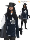 Mens Ladies Medieval Musketeer Fancy Dress Costume Couples French Historical