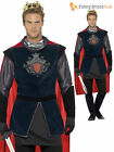 Deluxe Adult Mens King Arthur Knight Prince Medieval Fancy Dress Costume Outfit