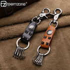teemzone Men's Women's Real Leather Key Case Chains Key Rings Holder