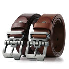 Men Genuine Leather Business Casual Vintage Single Pin Buckle Single Prong Belt