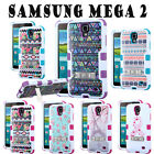 SAMSUNG GALAXY TUFF Hybrid Phone Case Protector Cover w/ Metal Stand Case