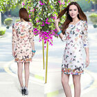 Luxury Women Lady Lace Butterfly Print Embroidered Cocktail Party Evening Dress