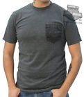 Harley-Davidson Mens B&S Willie G Skull Bandana Print Pocket Charcoal T-Shirt