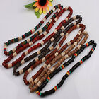 Assorted Handmade Coconut Shell Carved Puka Round Bead Necklace More Optional