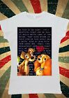 Lady and the Tramp Pasta Love Kiss Women T-Shirt Vest Tank Top W109