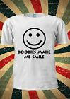 Smiley Boobies Make Me Smile Laugh Funny T Shirt Men Women Unisex 623
