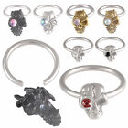 2P Steel captive cbr ring septum piercing ball closure 9CON-SELECT STYLE&SIZE