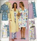 Sleepwear PJs Top Nightgown Pants Robe Pattern Choice XS-XL McCall's 3446 OOP