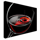 Glass of red wine Canvas Art Cheap Wall Print Home Interior