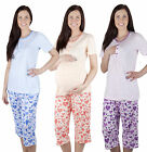 2 in1 Maternity nursing 100% cotton 2-peace Pyjama Set 8 10 12 14  breastfeeding