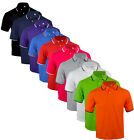 TP1  Mens Short Sleeve Plain Tipping Polo Shirt T shirt Top Casual Cotton Mix