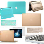 Matched KB Clear Plugs Screen Guard Hard Shell Laptop Case Cover for MAC Macbook