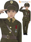Boys Deluxe Army Officer Uniform World War 1 WWI Book Week Fancy Dress Kids