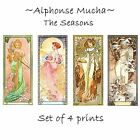 Deluxe Art Nouveau Decorative Print by Artdash® ~ A. Mucha  THE SEASONS (c.1900)