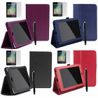 "Leather Smart Cover Case Stand for Asus Google Nexus 7"" 2012 1st gen + Pen +Film"