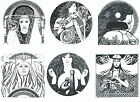 Angels and Goddesses Themed Reusable Window Cling Stickers