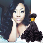 "2015 New Style Brazilian Human Hair Extension10""-30""3Bundles FUNMI CURLY Black"