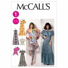 McCalls 6558 Elasticated Top Dress Gown 70s XS - Plus Size Sewing Pattern M6558