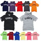 San Francisco Giants Light Cotton Hooded Short sleeve tshirt Hoodie Hoody Top