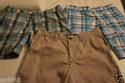 MENS H&M PLAID & KHAKI FLAT FRONT SHORTS NWT