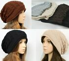 NEW Knit Crochet Plicate Beret Braided Baggy Beanie Ski Hat Oversized slouch Cap