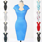 A-Line Slim Vintage Rockabilly 60s Housewife Evening Party Tea Bodycon Dresses