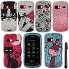 For LG Xpression 2 C410 FULL GEM BLING CRYSTAL HARD Case Phone Cover + Pen